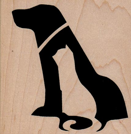 Dog And Cat Silhouette 3 x 3-0