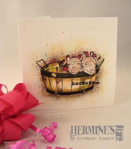 Pigs In Basket/Large 3 x 4-38652