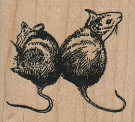 Two Rats/Mice 2 x 1 3/4-0
