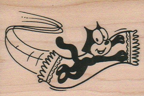 Cat On Flying Carpet 2 1/4 x 3 1/4-0