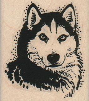 Husky Dog Head 2 x 2 1/4-0