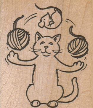 Cat Juggling 2 1/4 x 2 1/2-0