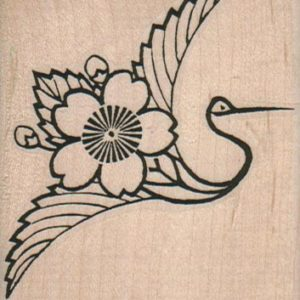Flower Elegant Bird 2 1/2 x 3-0