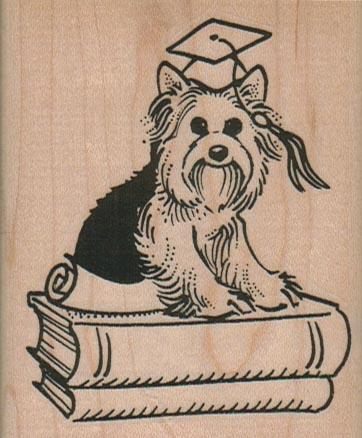 Mortar Dog On Books 2 1/2 x 3-0