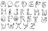 Dog Alphabet/Unmounted-0