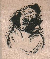 Pug Dog Smile 1 1/2 x 1 3/4-0