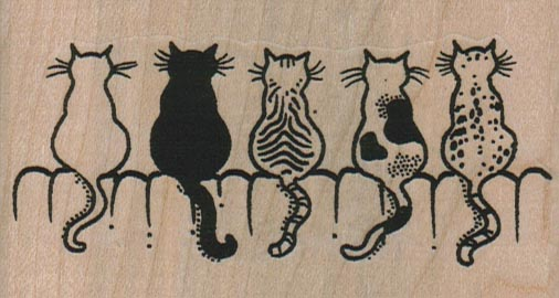 Cats On Fence 3 1/2 x 2-0