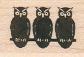Owl Trio 1 x 1 1/4-0