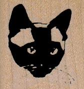 Siamese Cat Face 1 1/4 x 1 1/4-0