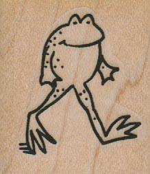 Frog Walking On Two Legs 1 1/4 x 1 1/4-0