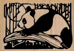 Panda With Moon 2 1/2 x 1 3/4-0