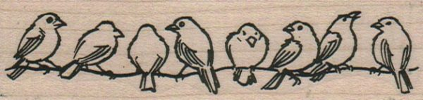 Birds On Wire 1 1/4 x 4 1/4-0