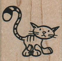 Cute Cat/Striped Tail 1 1/2 x 1 1/2-0