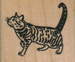 Striped Cat 1 3/4 x 1 1/2-0