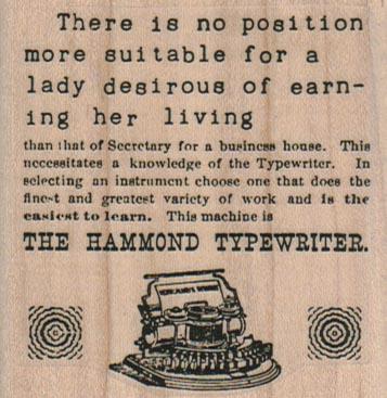 The Hammond Typewriter Ad 2 1/2 x 2 1/2-0