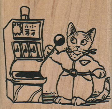 Cat Playing Slots 2 1/2 x 2 1/2-0