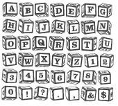 Child's Block Alphabet Unmounted-0
