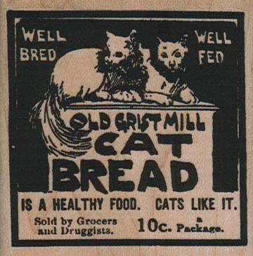 Cat Bread 2 1/2 x 2 1/2-0