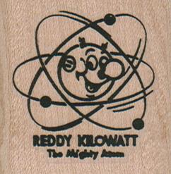 Reddy Kilowatt & His Atoms 1 3/4 x 1 3/4-0
