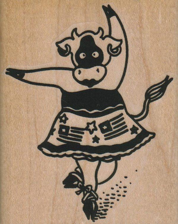 Patriotic Cow Ballerina 2 1/4 x 2 3/4-0
