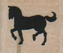 Small Horse Facing Left 1 x 3/4-0