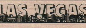 Las Vegas Skyline/Words/Sm 1 x 3-0