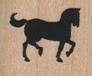 Small Horse Facing Right 1 x 3/4-0