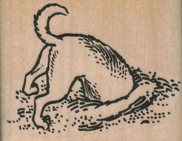 Dog Digging Hole 2 1/4 x 1 3/4-0