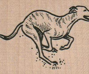 Greyhound Running 2 1/2 x 1 3/4-0