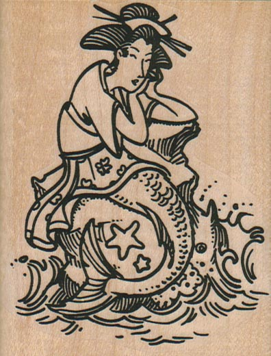 Geisha Mermaid 2 3/4 x 3 1/2-0