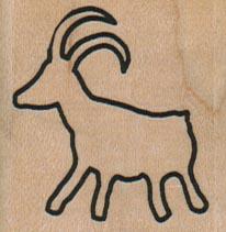 Petroglyph Mountain Goat 1 1/2 x 1 1/2-0