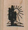 Cactus And Sun (Small) 3/4 x 3/4-0