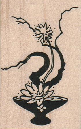 Asian Floral Arrangement 2 x 3-0