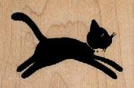 Black Cat Silhouette 2 x 1 1/4-0