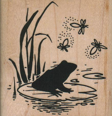 Frog On Pad/Fireflies 2 1/4 x 2 1/2-0