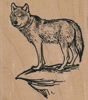 Coyote/Wolf on Cliff 2 1/2 x 2 3/4-0