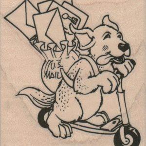 Scooter Dog Delivering Mail 2 1/2 x 2 3/4-0
