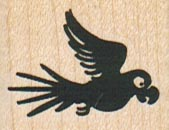 Silhouette Parrot Flying 1 1/4 x 1-0