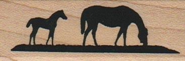 Mare & Colt Silhouette 1 x 2 1/2-0