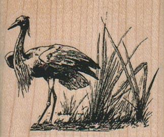 Bird In Marsh 2 1/4 x 1 3/4-0