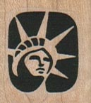 Small Statue of Liberty Head 1 x 1-0