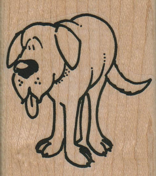 Dog Tongue Hanging Out 1 3/4 x 2-0