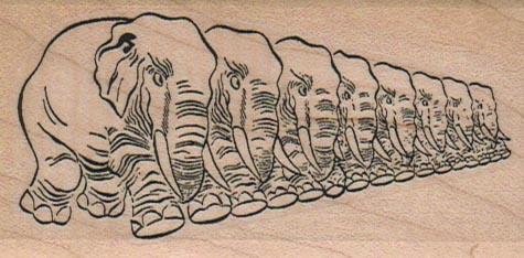 Row O' Elephants 1 3/4 x 3 1/4-0