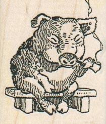 Pig Smoking Pipe 1 1/2 x 1 3/4-0