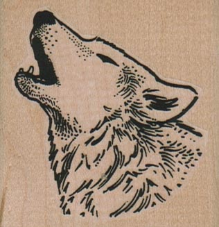 Howling Wolf 2 1/4 x 2 1/4-0