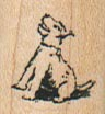 Tiny Dog Looking Up 3/4 x 3/4-0