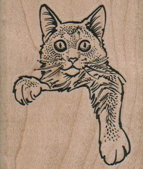 Cat With Paw Hanging Down 2 x 2 1/4-0