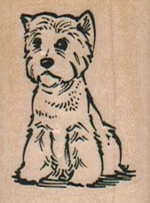 Cute Little Dog 1 1/4 x 1 3/4-0