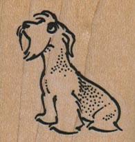 Sad Dog Looking Up 1 1/2 x 1 1/2-0