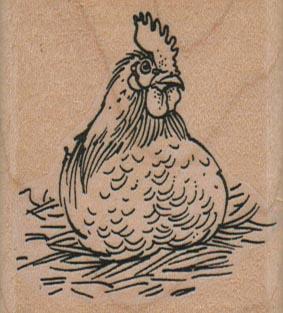 Hen Sitting On Nest 2 x 2 1/4-0
